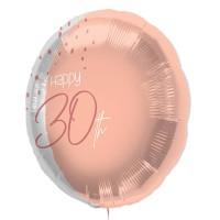 """Folie ballon """"Happy 30th"""" roze 45cm"""