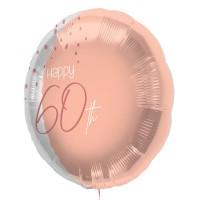 """Folie ballon """"Happy 60th"""" roze 45cm"""