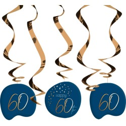 "Hang spiralen ""Happy 60th"" True Blue 5st"
