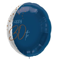 "Folie ballon ""Happy 30th"" blauw 45cm"