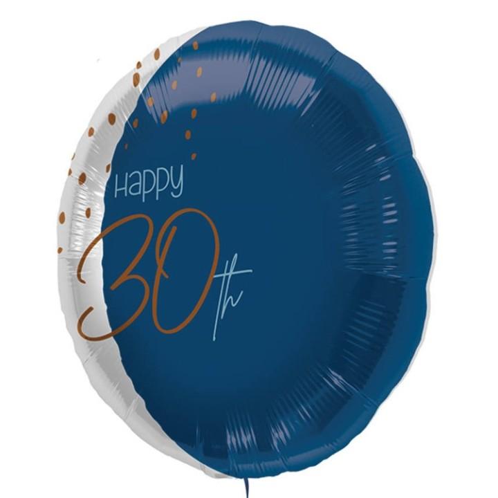 "Folie ballon ""Happy 30th"" blauw 45cm"