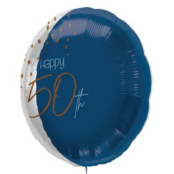 "Folie ballon ""Happy 50th"" blauw 45cm"