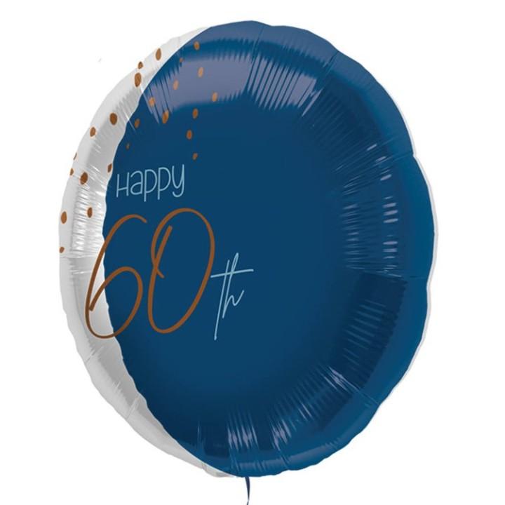 "Folie ballon ""Happy 60th"" blauw 45cm"