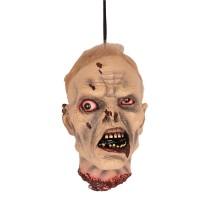Afgehakt hoofd zombie man hangend
