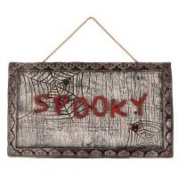 """Halloween decoratie bord """"Spooky"""" met sensor"""