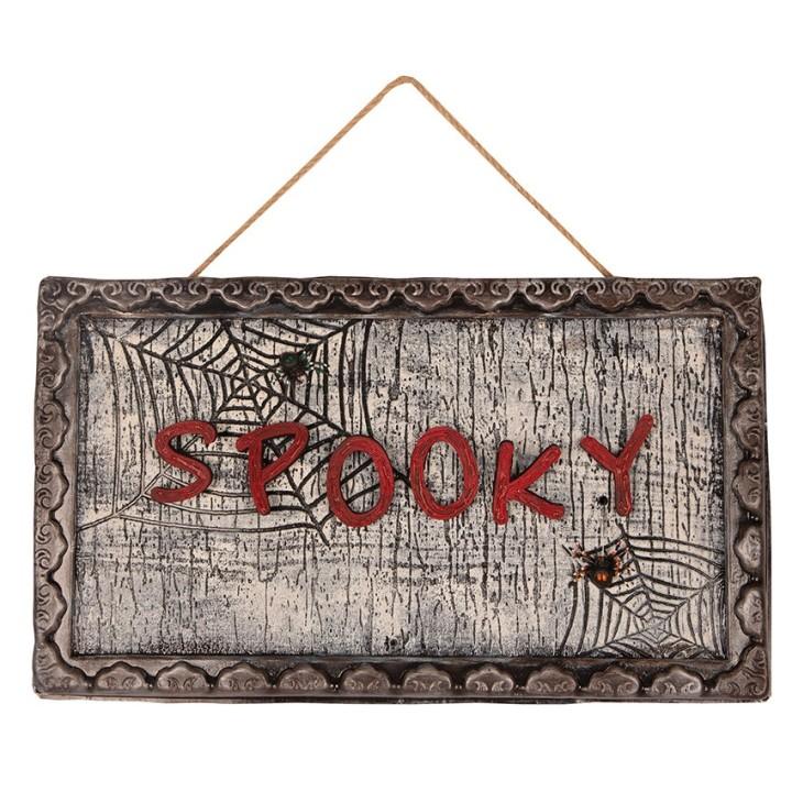 """Halloween decoratie bord """"Spooky"""" beweging sensor"""
