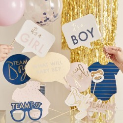Gender reveal photobooth props 10 st
