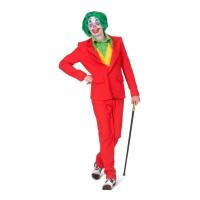 The Joker kostuum rood heren + mondmasker