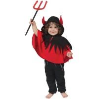 Duivel kostuum baby/peuter poncho