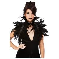 Gothic zwarte veren bolero