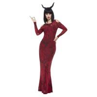 Luxe duivel jurk dames met hoorns