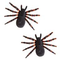 Nep spinnen Tarantula flocked 2 st