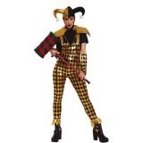Harlekijn joker narren kostuum dames pakje