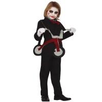 Saw Jigsaw kostuum billy met driewieler kind