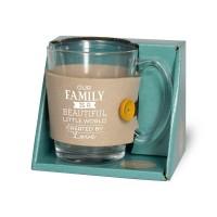 Tijd voor thee - Theeglas met sleeve Family