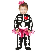 Skelet ballerina kostuum baby Halloween pakje