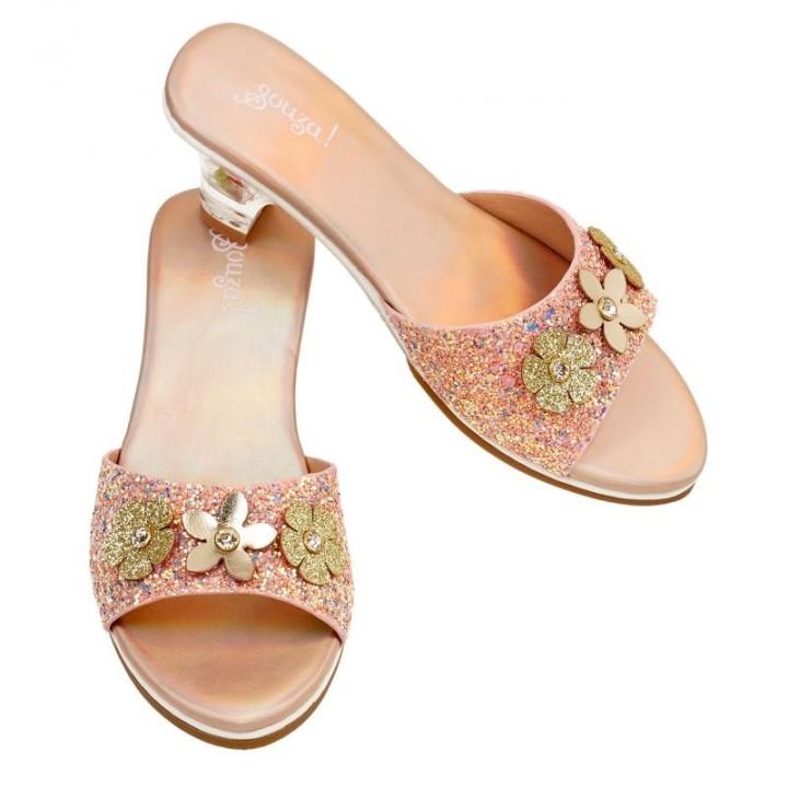 Prinsessen schoentjes Clarisse slippers zalm