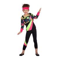 Retro 80's Aerobic kostuum kind