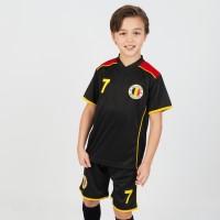 Belgie voetbaltenue kind 2-delig zwart zwart