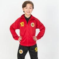 Belgie trainingspak kind 2-delig rood zwart