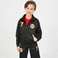 Belgie trainingspak kind 2-delig zwart zwart