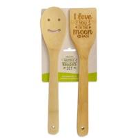 Vrolijke bamboe keukenset I Love You
