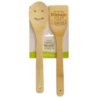 Vrolijke bamboe keukenset vriendin