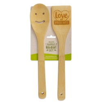 Vrolijke bamboe keukenset Love