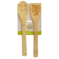 Vrolijke bamboe keukenset Afblijven!