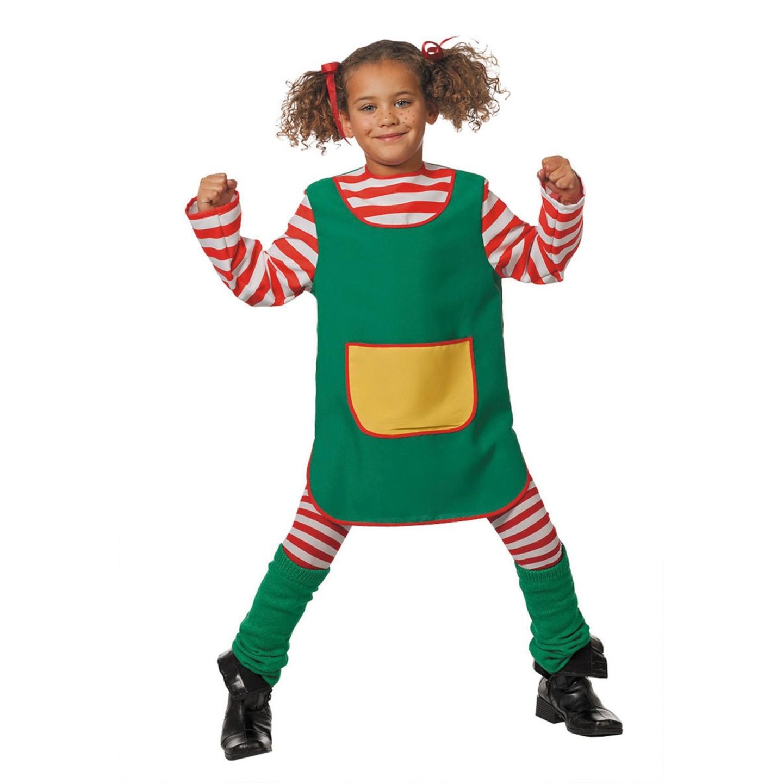 Pippi Langkous kostuum kind jurkje