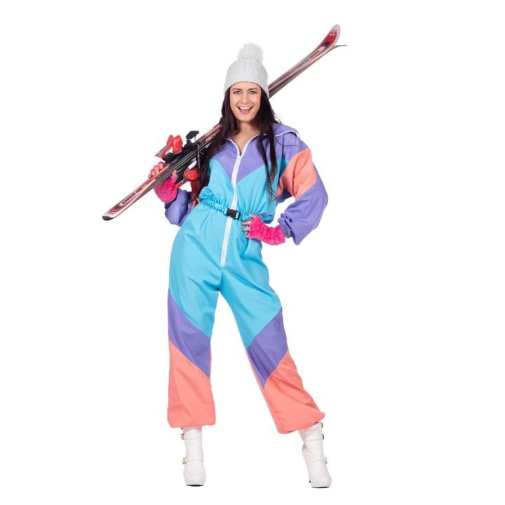 Retro skipak dames fout jaren 80-90 kostuum