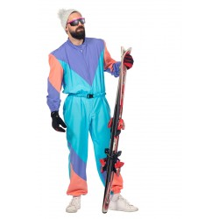 Retro skipak heren fout jaren 80-90 kostuum