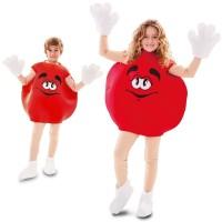 M&m kostuum kind snoepjes pak rood