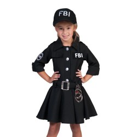 FBI jurkje kind carnaval pakje carnavalskostuum