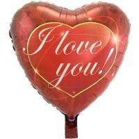 Folie ballon hart I love You