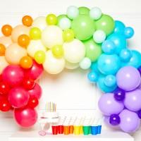 DIY ballonnen slinger pakket regenboog 78-dlg