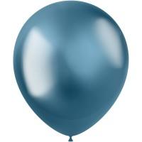 Blauwe ballonnen Metal Shine Blue 33cm 10st