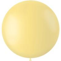 Gele XL ballon Powder Yellow mat 78 cm
