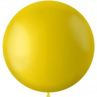 Gele XL ballon Tuscan Yellow mat 78 cm