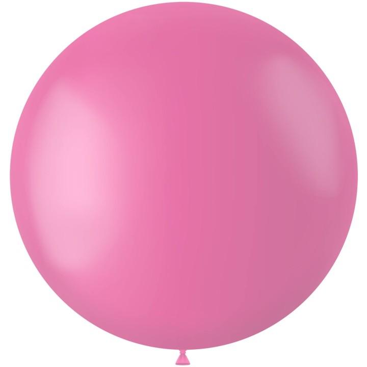 Roze XL ballon Rosey Pink mat 78 cm
