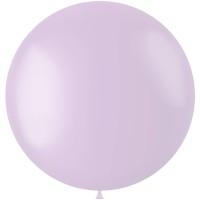 Paarse XL ballon mat Powder Lilac 78 cm