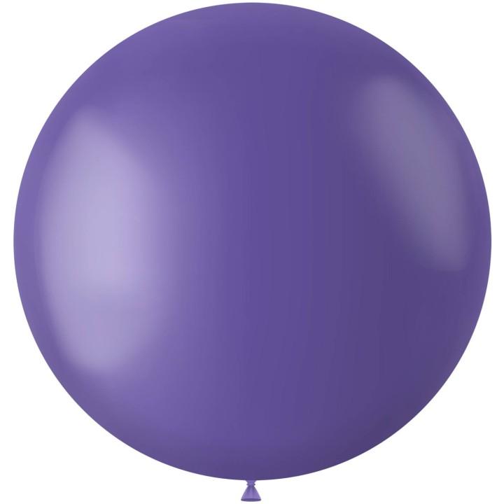 Blauwe XL ballon mat Cornflower Blue 78 cm