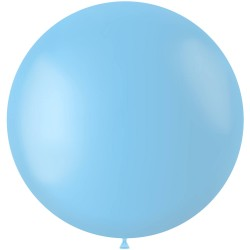 Blauwe XL ballon mat Powder Blue 78 cm