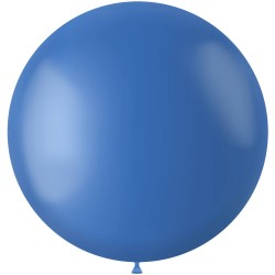 Blauwe XL ballon mat Dutch Blue 78 cm