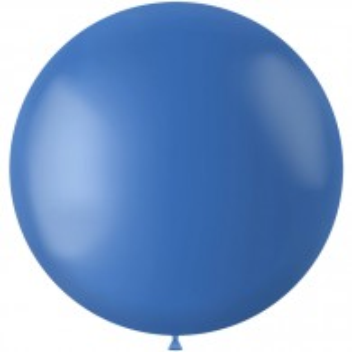 Blauwe XL ballon mat Dutch Blue 78 cm