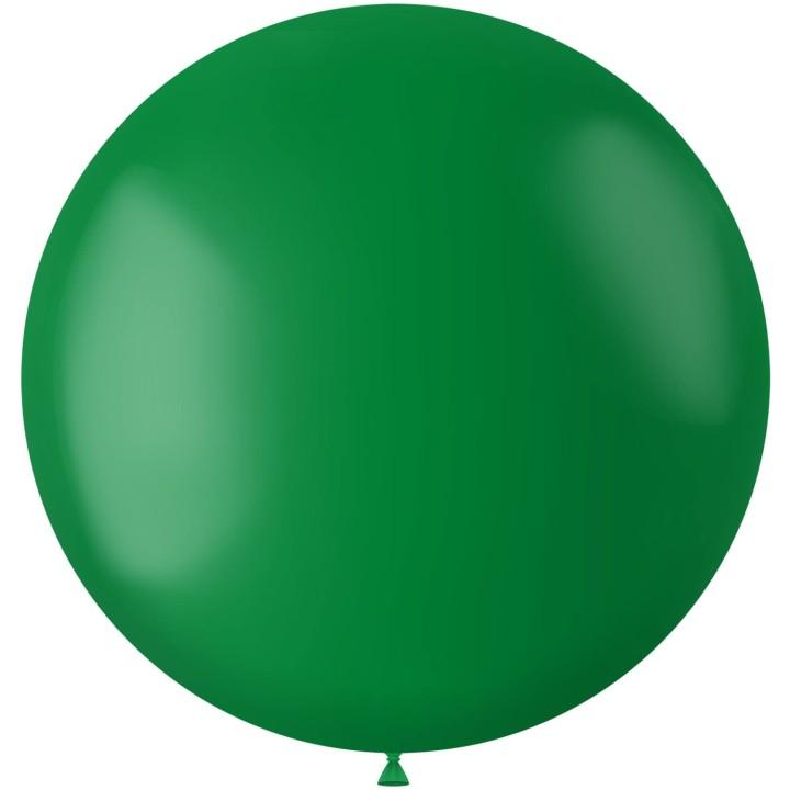 Groene XL ballon mat Pine Green 78 cm