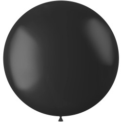Zwarte XL ballon mat Midnight Black 78 cm