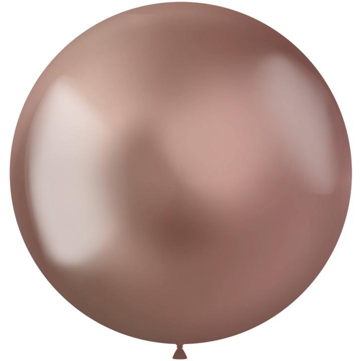 Rose gouden ballonnen Metal Shine 48cm 5st