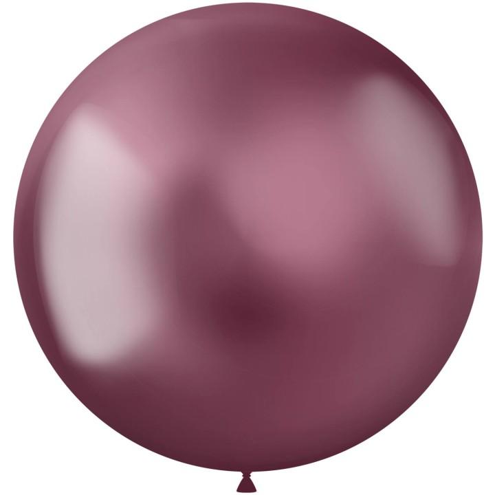 Roze ballonnen Metal Shine Pink 48cm 5st