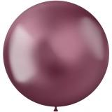 roze XL ballonnen latex metallic shine